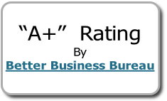 """A+""  Rating By Better Business Bureau"